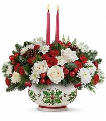 Photo of Holly Days Centerpiece Teleflora - T14X100