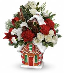 Photo of Gingerbread Cookie Jar Bouquet Teleflora - T14X300
