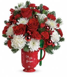 Photo of Merry Mug Bouquet by Teleflora - T14X600