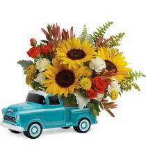 Photo of Vintage Ford Pickup Bouquet T16F100 - T16F100
