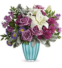 Photo of Veranda Blooms Bouquet with Vase - T16E105