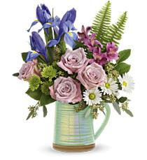 Photo of Garden Rendezvous Bouquet with Vase - T16E205