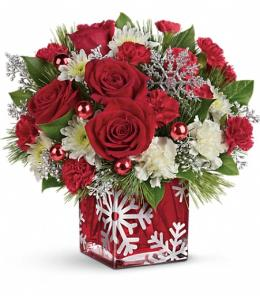 Photo of Silver Christmas Bouquet by Teleflora - T16X600