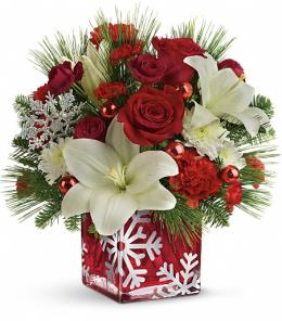 Photo of Snowflake Wonder Christmas Bouquet  - T16X605