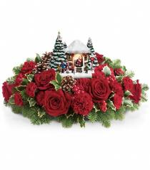 Photo of Thomas Kinkade's Visiting Santa  T16X205 - T16X205