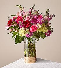 Photo of Shining Heart Vase Bouquet V100 - T17V100