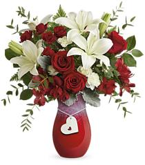 Photo of Hearts Aflutter Vase Bouquet V105 - T17V105
