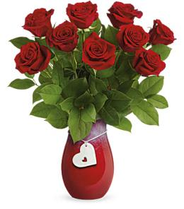 Photo of Heart Of A Rose Bouquet by Teleflora - T17V110