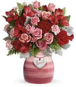 Photo of Lovely Hearts Bouquet by Teleflora 300 - T16V300
