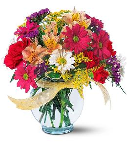 Photo of Joyful & Thrilling Vase Bright In Stock Flowers - TF121-2