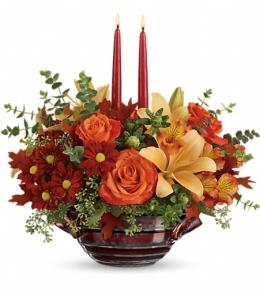 Photo of Autumn Gathering Centerpiece  - T16T100