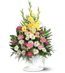 Photo of Basket of Faith Sympathy Flowers - TF187-4