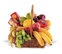 Photo of Fruit and Gift Basket - TF191-3