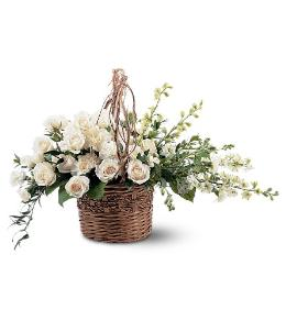 Photo of Basket of Light All White - TF194-3