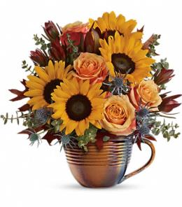 Photo of Golden Gratitude Bouquet  - T16T205