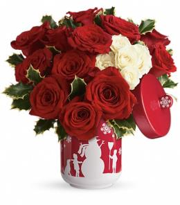 Photo of Roses And Holly Christmas Cookie Jar - T16X310