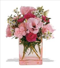 Photo of Pink Dawn Flower Cube Vase  - 05N400