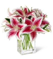 Photo of Pink Lily Bouquet - S35-4298