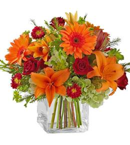 Photo of Fabulous Fall Bouquet in Vase  - BG36