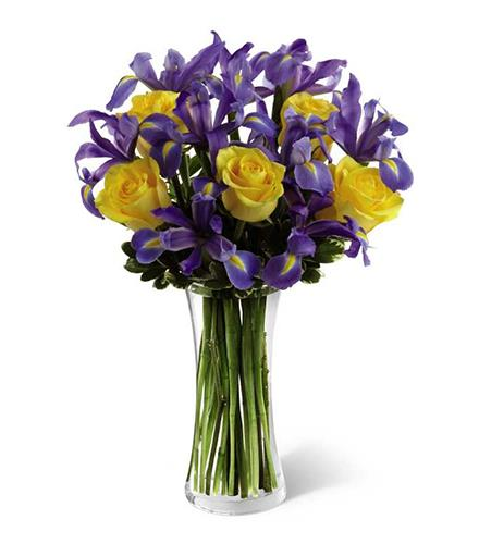 Photo of BF5736/B26-4405d (9 iris, 5 roses)