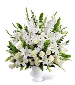 Photo of The FTD Morning Stars All White Arrangement - S2-4438