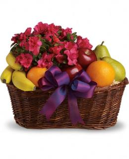 Photo of Fruits and Plant Blooms Basket - T107-3