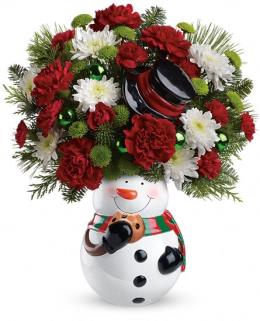 Photo of Snowman Cookie Jar by Teleflora - T13X400