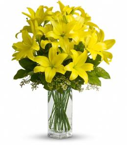 Photo of Lily Sunshine with Vase  - T140-2