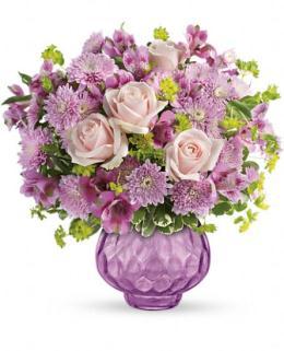 Photo of Lavender Chiffon Vase Bouquet Teleflora - TEV25-2