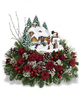Photo of Thomas Kinkade's Winter Wonder by Teleflora T12X200 - T12X200