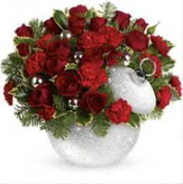 Photo of Shimmering Snow Bouquet Ornament by Teleflora T12X400 - T12X400
