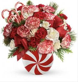 Photo of Peppermint Christmas Bouquet by Teleflora T12X600 - T12X600