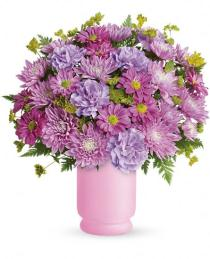 Photo of Poetry In Purple Vase Bouquet  - TEV24-3