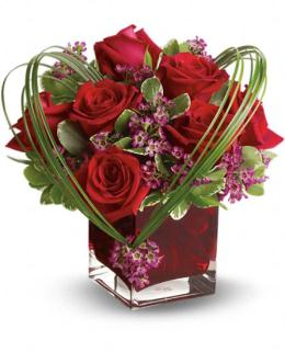 Photo of Teleflora's Sweet Thoughts Bouquet with Red Roses - TEV13-7