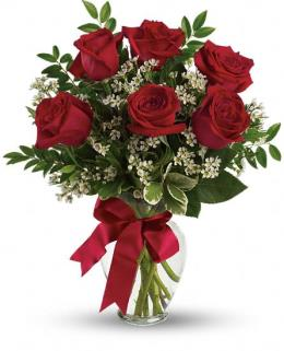 Photo of Thoughts of You Bouquet with Red Roses - TEV12-6