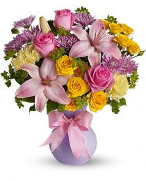 Photo of Perfectly Pastel Vase by Teleflora - TEV13-5