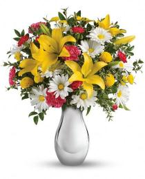 Photo of Just Tickled Vase Bouquet by Teleflora - TEV33-2