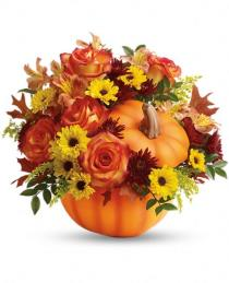 Photo of Warm Fall Wishes Pumpkin by Teleflora - T13H110