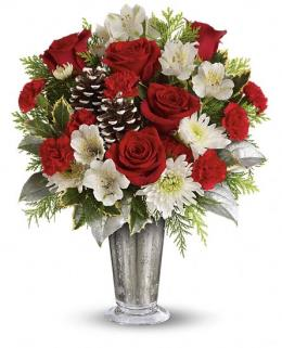 Photo of Teleflora's Timeless Cheer Bouquet - TWR10-1