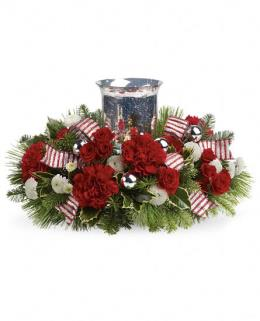 Photo of Teleflora's Holly Jolly Centerpiece - TWR10-3