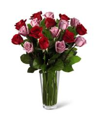 Photo of The FTD Red and Lavender Rose Bouquet - B23-4386