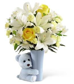 Photo of Blue Big Hug Bouquet FTD - BBH