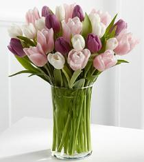 Photo of Painted Skies Tulip Vase Bouquet - FA74