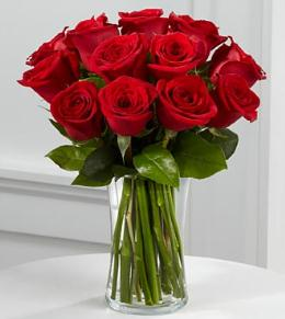 Photo of BF7599/FH37 (12 Roses with vase)