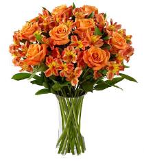 Photo of Orange Flowers in Vase - FD87