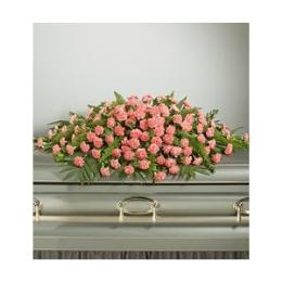 Photo of Pink Carnation Closed Casket Spray  - 800PINKC