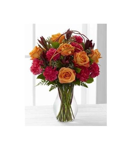 Photo of BF7269/C7-4843d (6 roses plus carnations.)