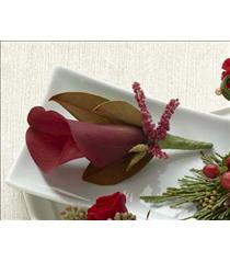 Photo of The FTD Red Calla Boutonniere - D11-4748