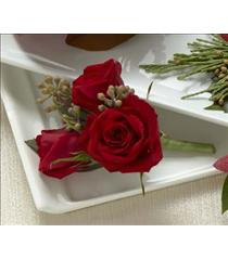 Photo of The FTD Red Spray Rose Boutonniere - W54-4749