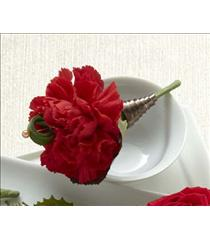 Photo of The FTD Red Carnation Boutonniere - D11-4750